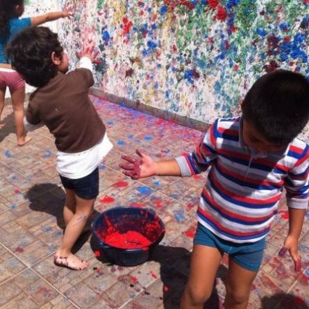 Jardín infantil en experiencia artística
